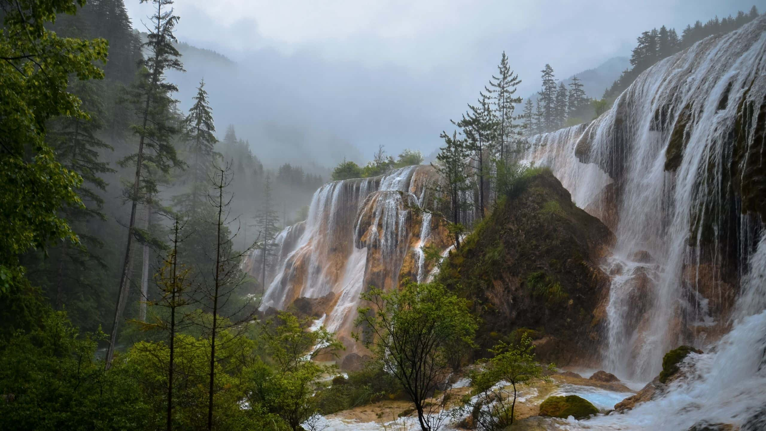 Impressive waterfalls at Aba, Sichuan