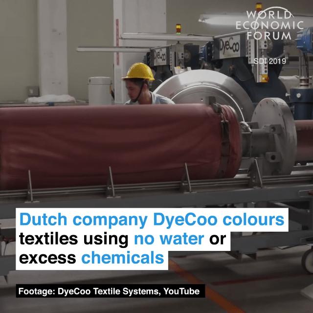 荷兰DyeCoo公司采用无水印染技术,并且不使用过量化工物