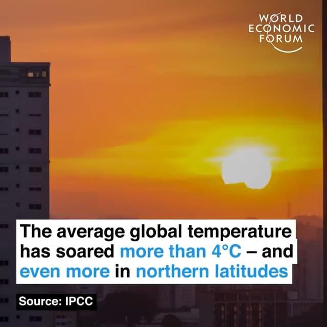 全球平均气温飙升4摄氏度以上,北半球高纬度地区更甚