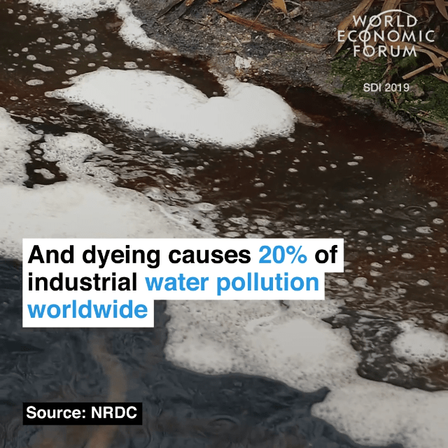 而全球20%的工业用水污染来自于印染行业