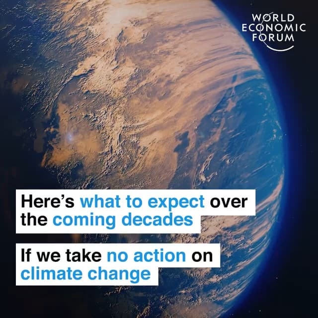 如果我们不采取行动应气候变化,未来数十年内我们就会看到