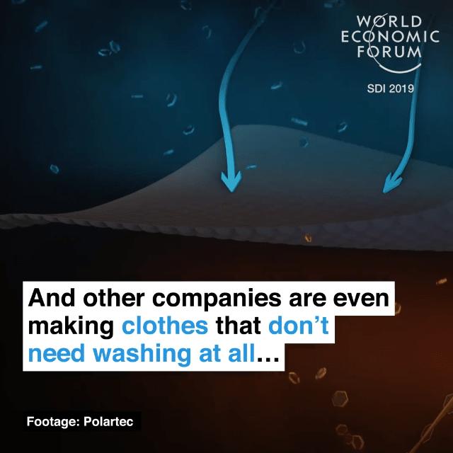 另外一些公司甚至正在研究免洗衣物
