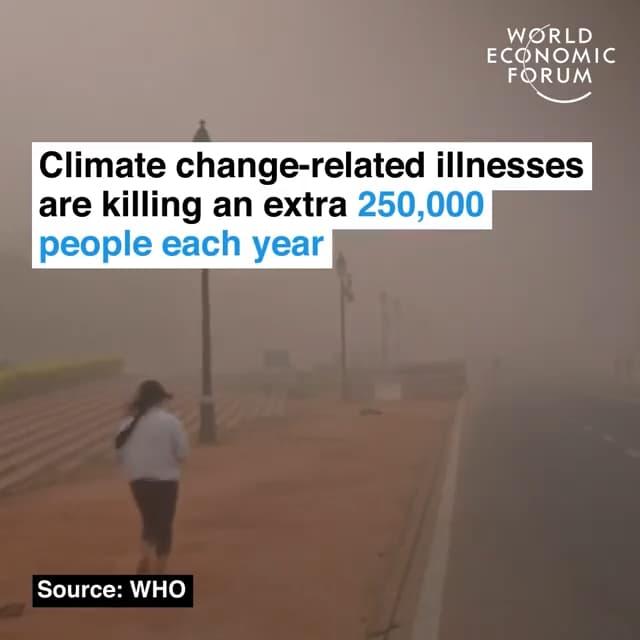 气候相关的疾病每年还将额外杀死25万人口