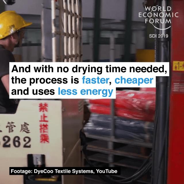 由于不需要干燥,这一过程更快、更便宜、能耗更低