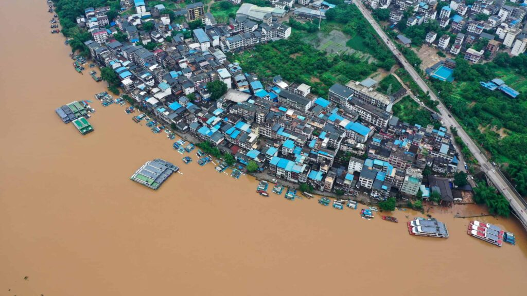 Flooded Lijiang River 2020