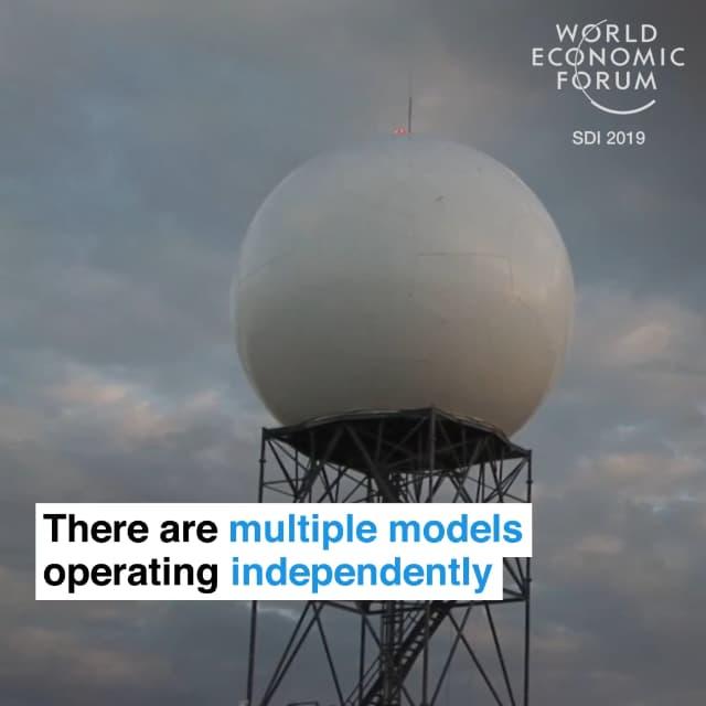 全球有多个模型互相独立地进行模拟运算