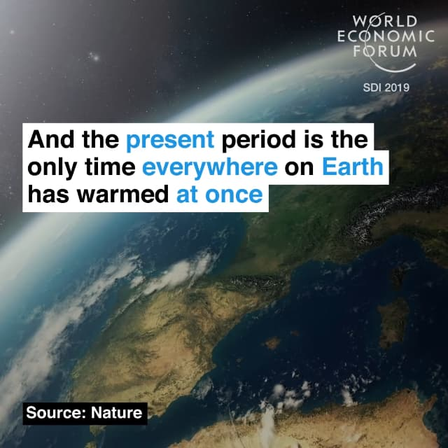 而且目前是地球唯一一次全面变暖的时期