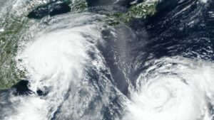 Typhoon Lekima and Krosa