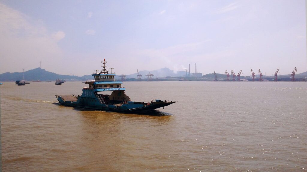 A ferry boat on the Yangtze river